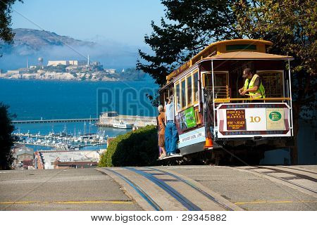 San Francisco Cable Car isla de Alcatraz