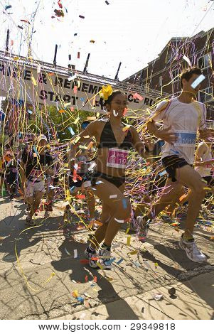 Runners Take Part In The Rememberance Race At The Toronto Gay Pride Festival.