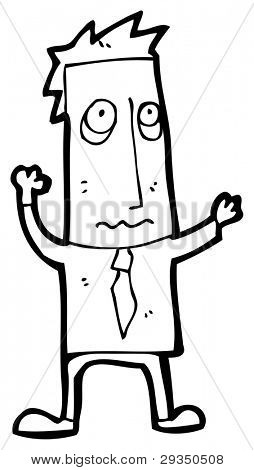 stressed businessman cartoon (raster version)