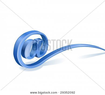 at-sign e-mail vector