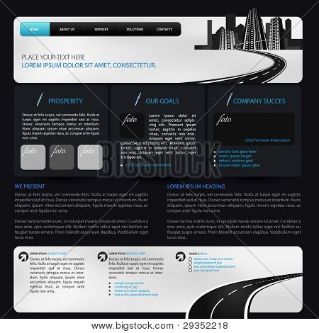 web design template suitable for CMS
