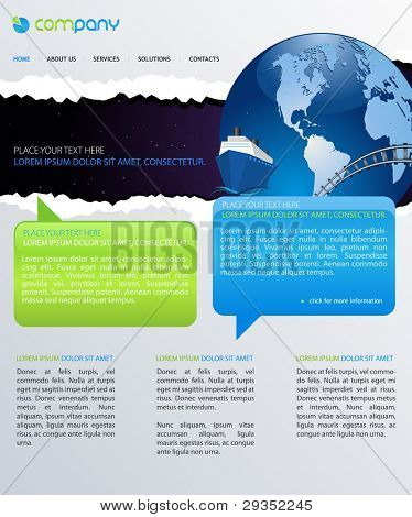 web design template with sample text