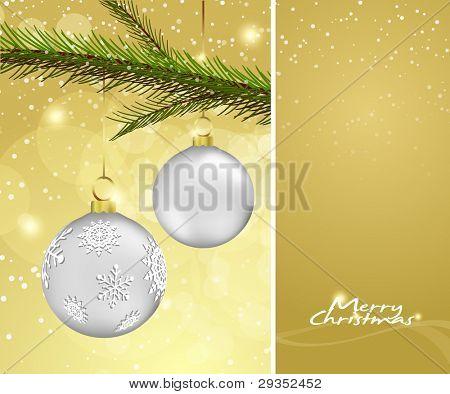 Christmas Background with Ball dekoration und Exemplar