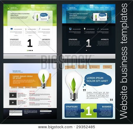 exclusive website business templates, set 5