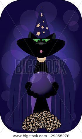 El gato un sombrero de mago