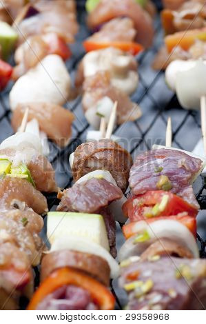 Raw Barbecue Brochettes