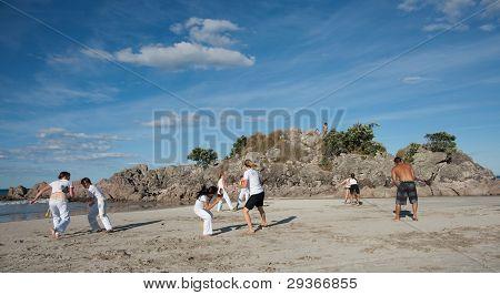 Práctica de la capoeira.