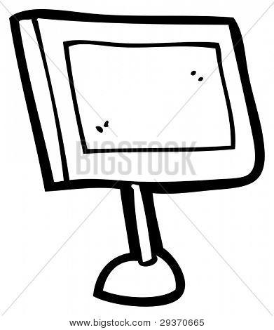computer flat screen cartoon (raster version)