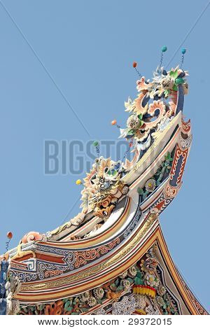Chinese shrine gables.