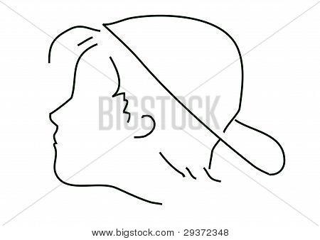 Boy and cap