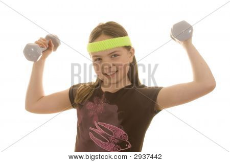 Maddy Lifts Weights
