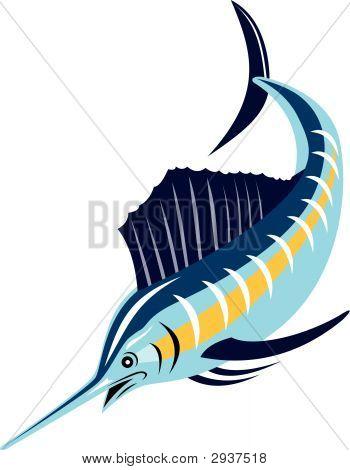 Sailfish Diving Down