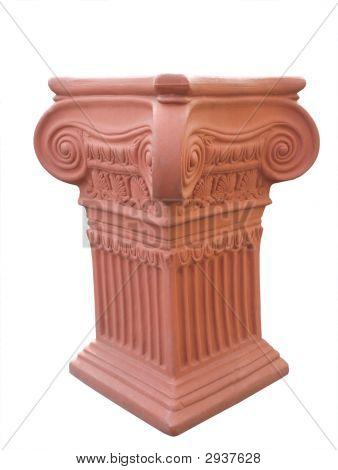 Ornate Terrecotta Pedestal
