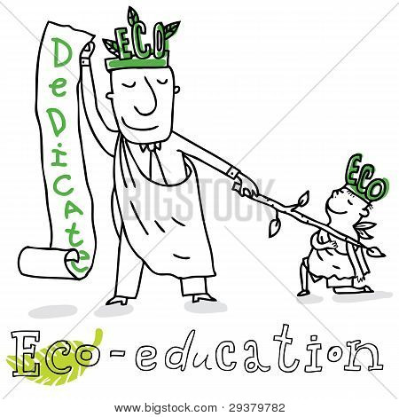 Eco education, vector drawing Eco_education.eps