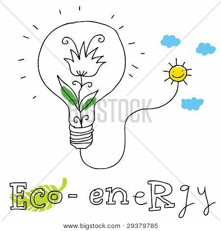 Eco energy, vector drawing Eco_energy.eps