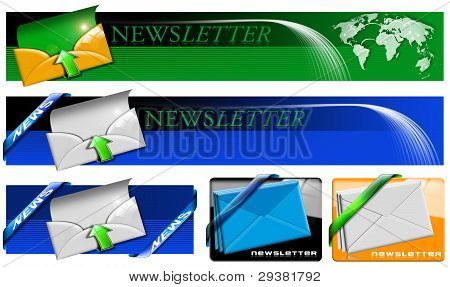 Newsletter Web Banner Collection