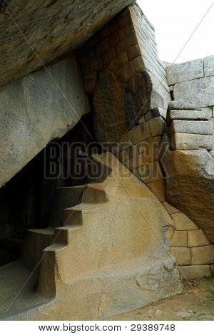 Royal tomb at Machu Picchu, Peru