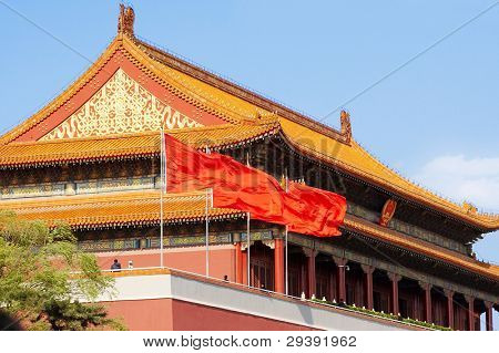Beijing tiananmen,one of the most famous architecture in china.long history, the main entrance to the Imperial City.