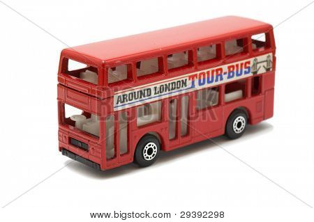 red double decker london bus.