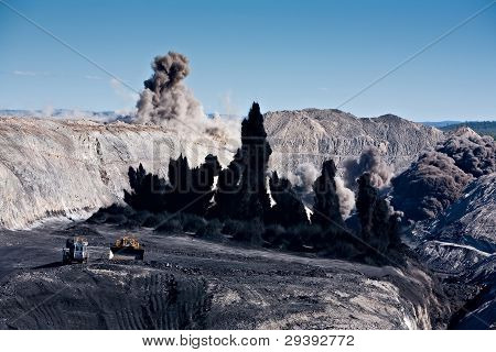 Explosion at a coal mine