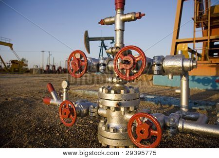 Valves on a production wellhead