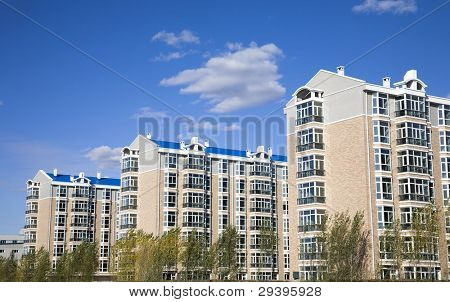 new apartment buildings under clear sky.