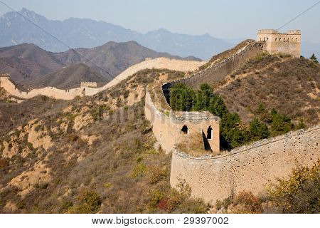 ancient and ruined great wall of China