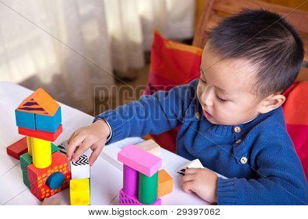 Child and blocks