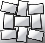 Vector Frame For Photos And Pictures, Photo Collage, Photo Puzzle. Templates Collage Frames For Phot poster