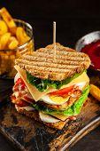 Tall club sandwich poster