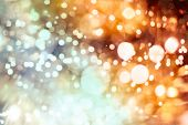 Bright Light Spots Abstract Bokeh Blurred Texture Background poster