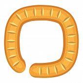 Sign Circular Bread Icon. Cartoon Illustration Of Sign Circular Bread Icon For Web poster