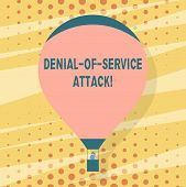Handwriting Text Writing Denial Of Service Attack. Concept Meaning Attack Meant To Shut Down A Machi poster