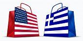 Постер, плакат: Америка и торговли Греции