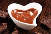 Melting Chocolate / Melted Chocolate/ Chocolate Swirl And Stack poster