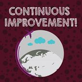 Conceptual Hand Writing Showing Continuous Improvement. Business Photo Text Involves Small Consisten poster