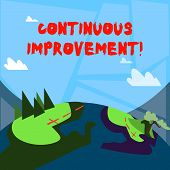 Word Writing Text Continuous Improvement. Business Concept For Involves Small Consistent Improvement poster