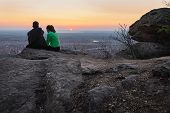 People In Nature In Sunset. People In Nature. Beautiful Couple In Sunset. Beautiful People. Happy Pe poster