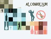 foto of boose  - Theme of alcoholism as a disease of addiction to alcohol - JPG