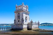Belem Tower ( Torre De Belem) Or The Tower Of St Vincent Is A Fortified Tower Located In The Civil P poster