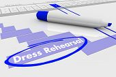 Dress Rehearsal Trial Run Gantt Chart Plan 3d Illustration poster