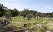 picture of socrates  - Remnants of the great old Agora in Athens - JPG