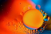 Abstract Background With Colorful Gradient Colors. Oil Drops In Water Abstract Psychedelic Pattern I poster