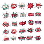 Comic Sound Effects In Retro Pop Art Vector Style. Sound Bubble Speech With Word And Comic Cartoon E poster