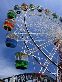 stock photo of ferris-wheel  - Colourful ferris wheel in Australia - JPG
