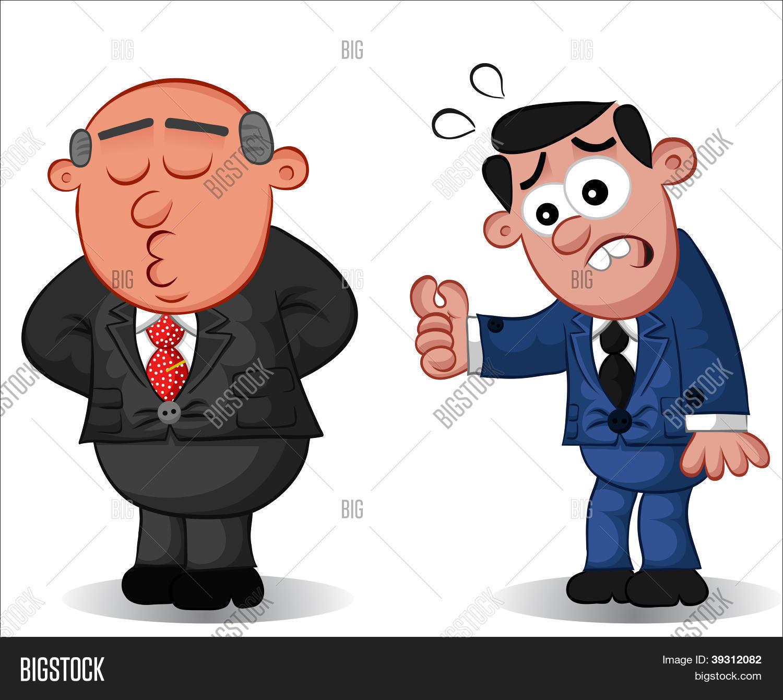 Business cartoon boss man doesn 39 vector photo bigstock - Imagenes con animacion ...
