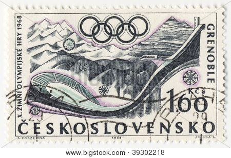 Sport In Grenoble  On Post Stamp