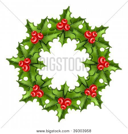 Christmas wreath. 10eps