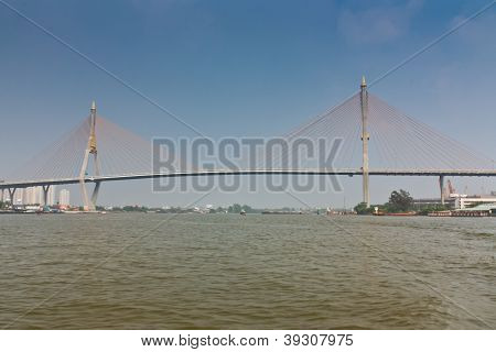 Suspension Bridge Across A Chao Phraya River 2.