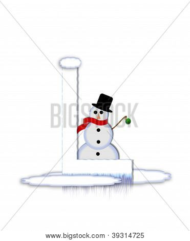 Alphabet Frosty L